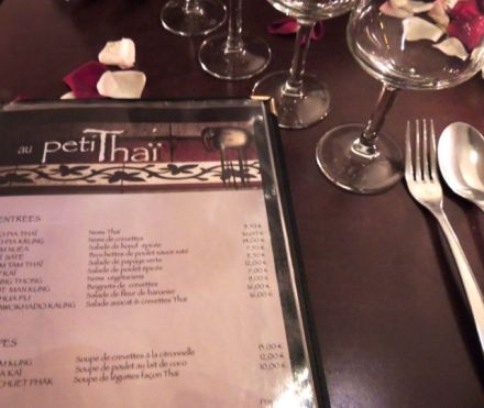 thai menu